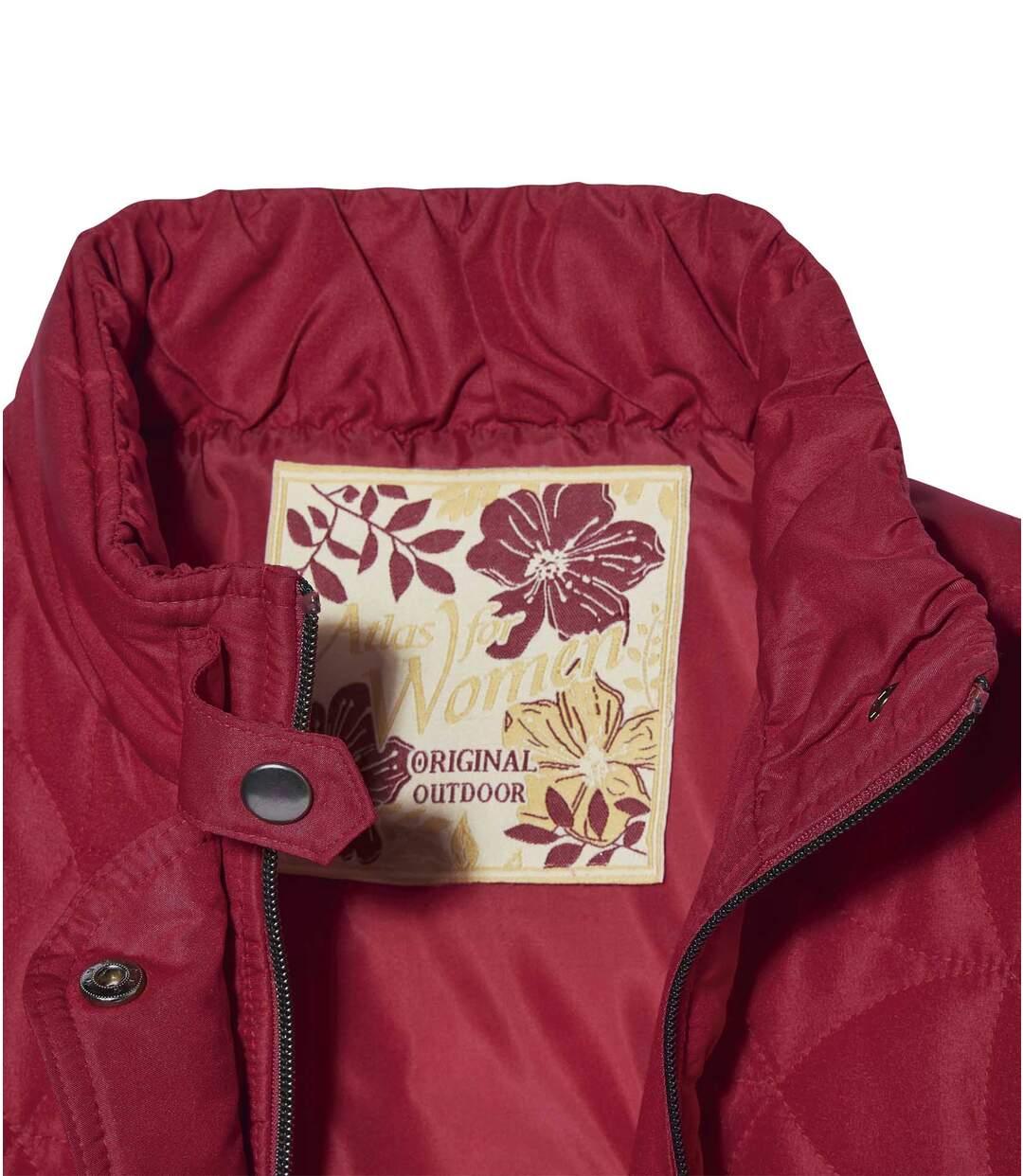 Satinierte Jacke mit modischem Steppmuster