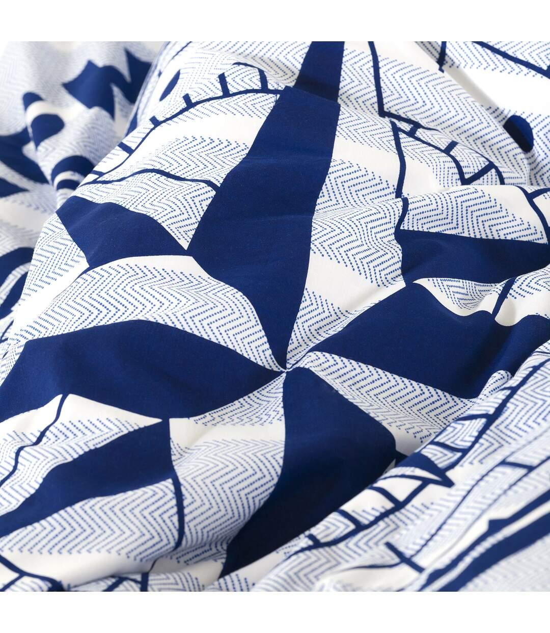 Parure de lit 260x240 cm 100% coton bio OCEAN Bleu 3 pièces