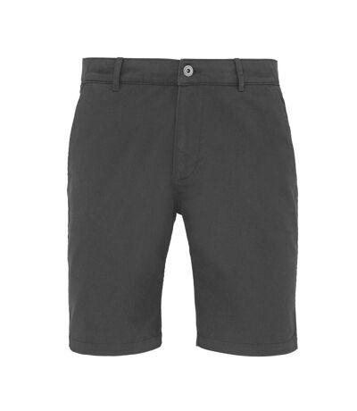 Asquith & Fox Mens Casual Chino Shorts (Slate) - UTRW4908