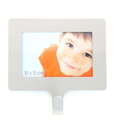 Cadre photo Happy home - L. 15 cm - Blanc