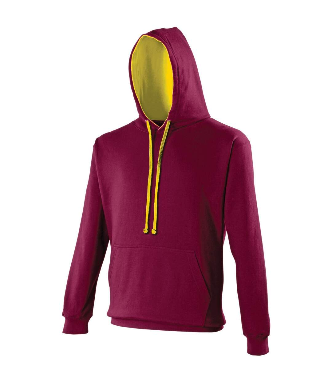 Awdis Varsity Hooded Sweatshirt / Hoodie (Lime Green/Magenta Magic) - UTRW165