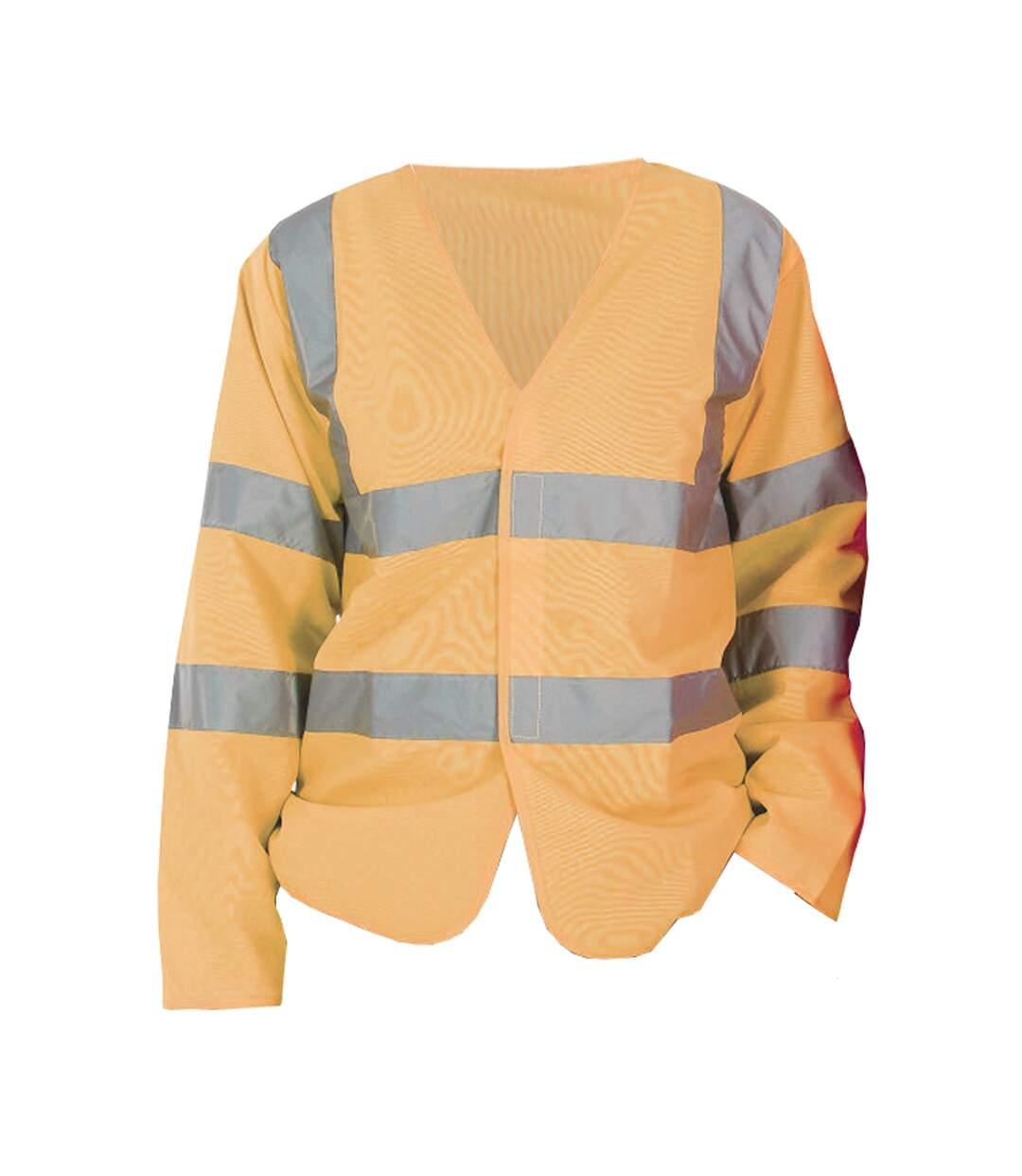 Yoko Mens Hi-Vis Long Sleeve Waistcoat / Jacket (Pack of 2) (Hi Vis Orange) - UTBC4391