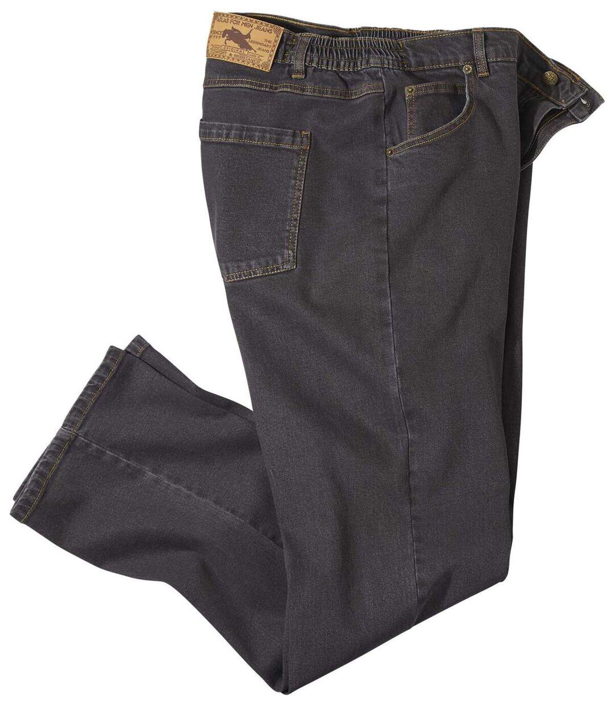 Braune Regular-Jeans mit Stretch-Effekt Atlas For Men