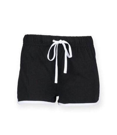 short rétro femme - SK069 - noir-white