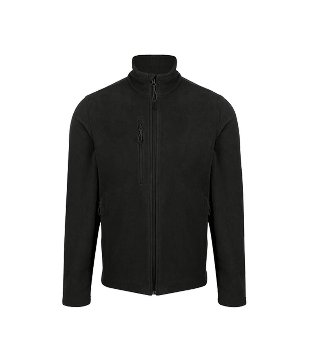 Regatta Mens Honestly Made Recycled Fleece Jacket (Black) - UTPC4048