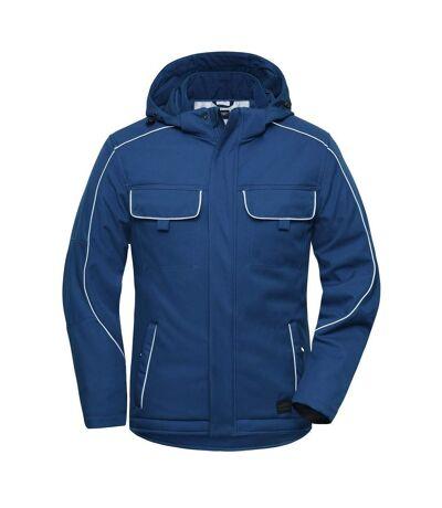 Veste blouson de travail rembourrée softshell - JN886 - bleu roi foncé