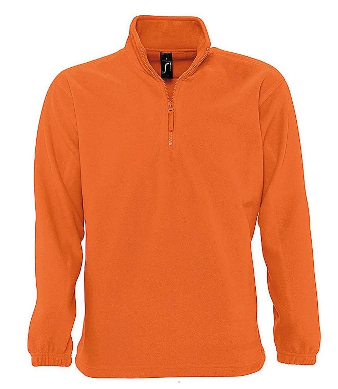 Sweat shirt polaire col zippé - 56000 - orange