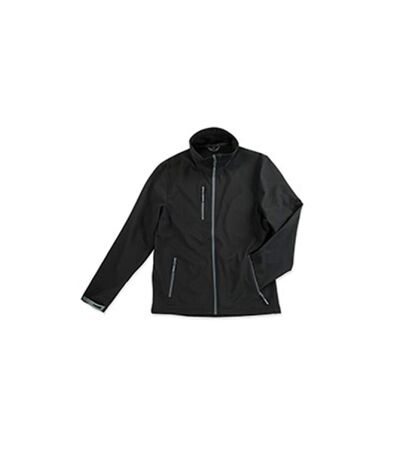 Stedman Mens Active Softest Shell Jacket (Black Opal) - UTAB307
