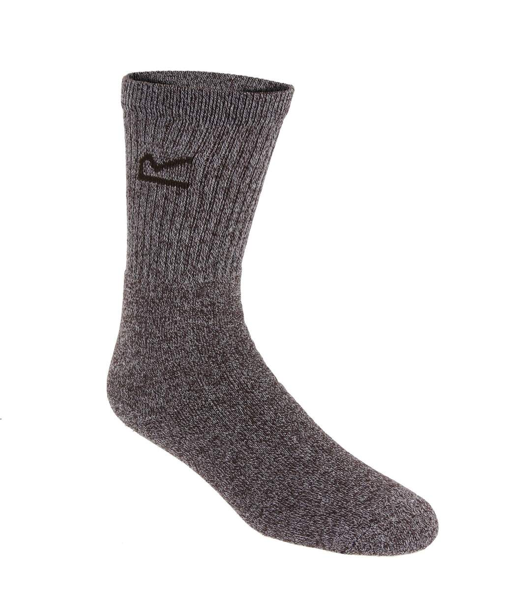 Regatta Great Outdoors Mens Cotton Rich Casual Socks (Pack Of 3) (Brown Marl) - UTRG786
