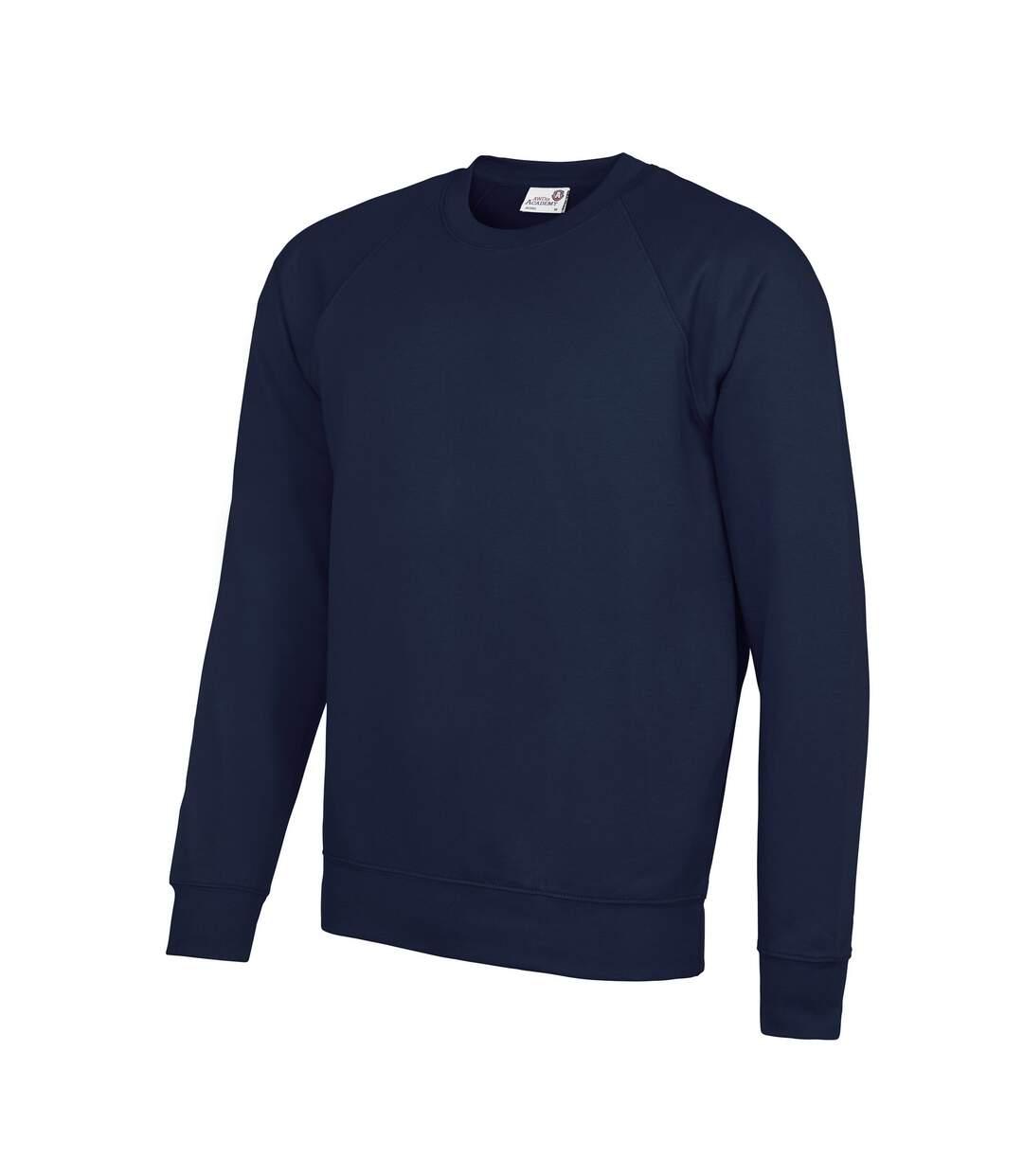 AWDis Academy Mens Crew Neck Raglan Sweatshirt (Navy) - UTRW3916