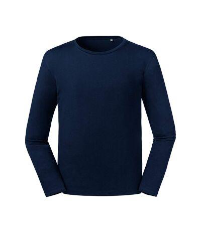 Russell Mens Pure Organic Long Sleeve T-Shirt (French Navy) - UTPC4021