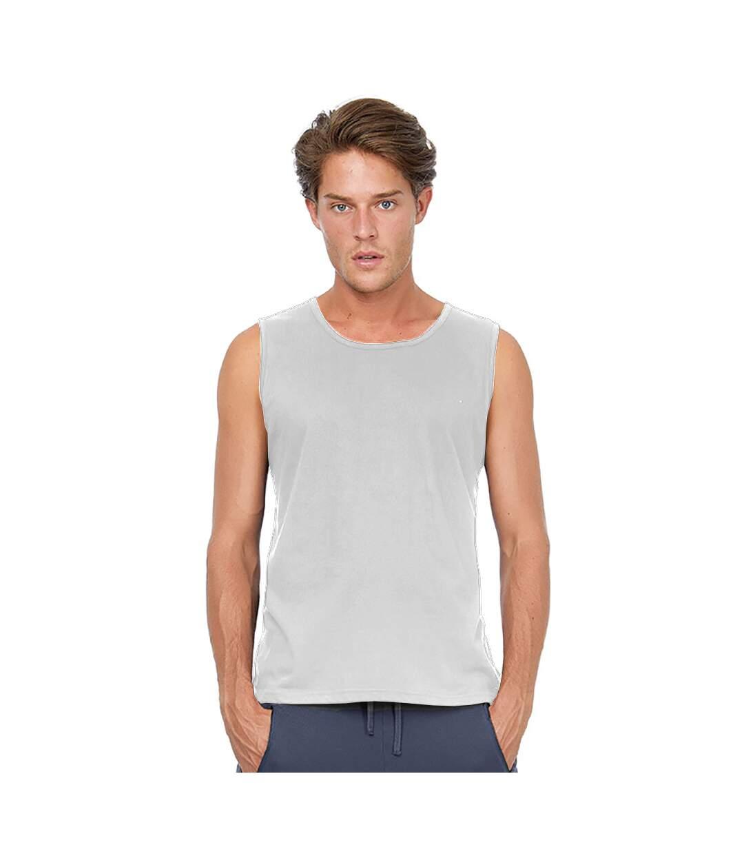 B&C Mens Move Sleeveless Athletic Sports Vest Top (White) - UTRW3499