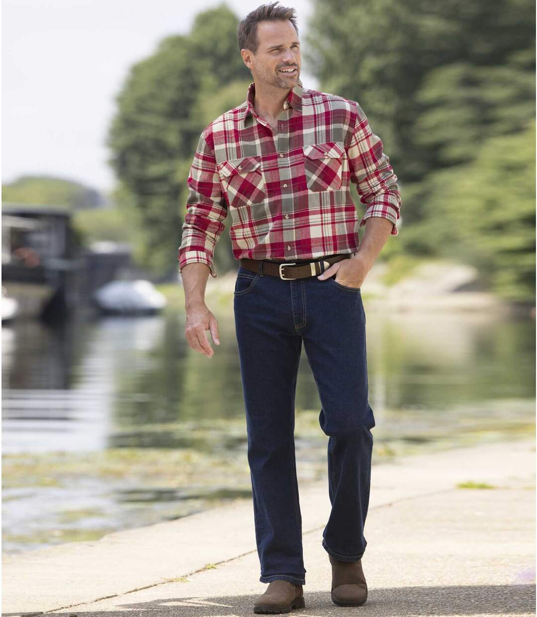 Blaue Jeans Komfort mit Regular-Schnitt Atlas For Men