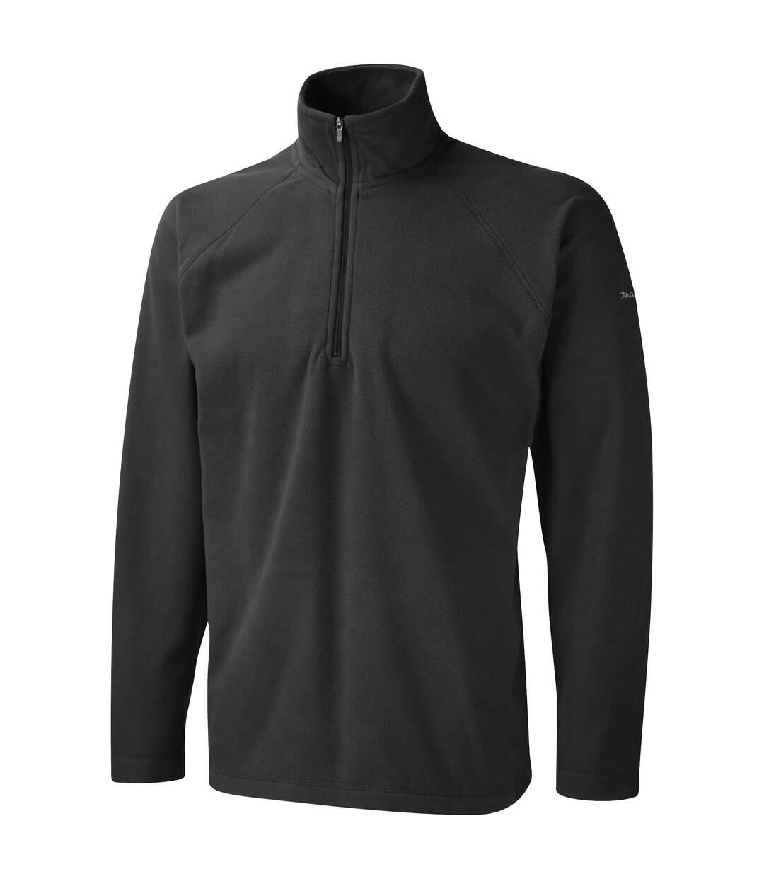 Craghoppers Mens Basecamp Microfleece FZ Half Zip Fleece Top (Black) - UTRW366