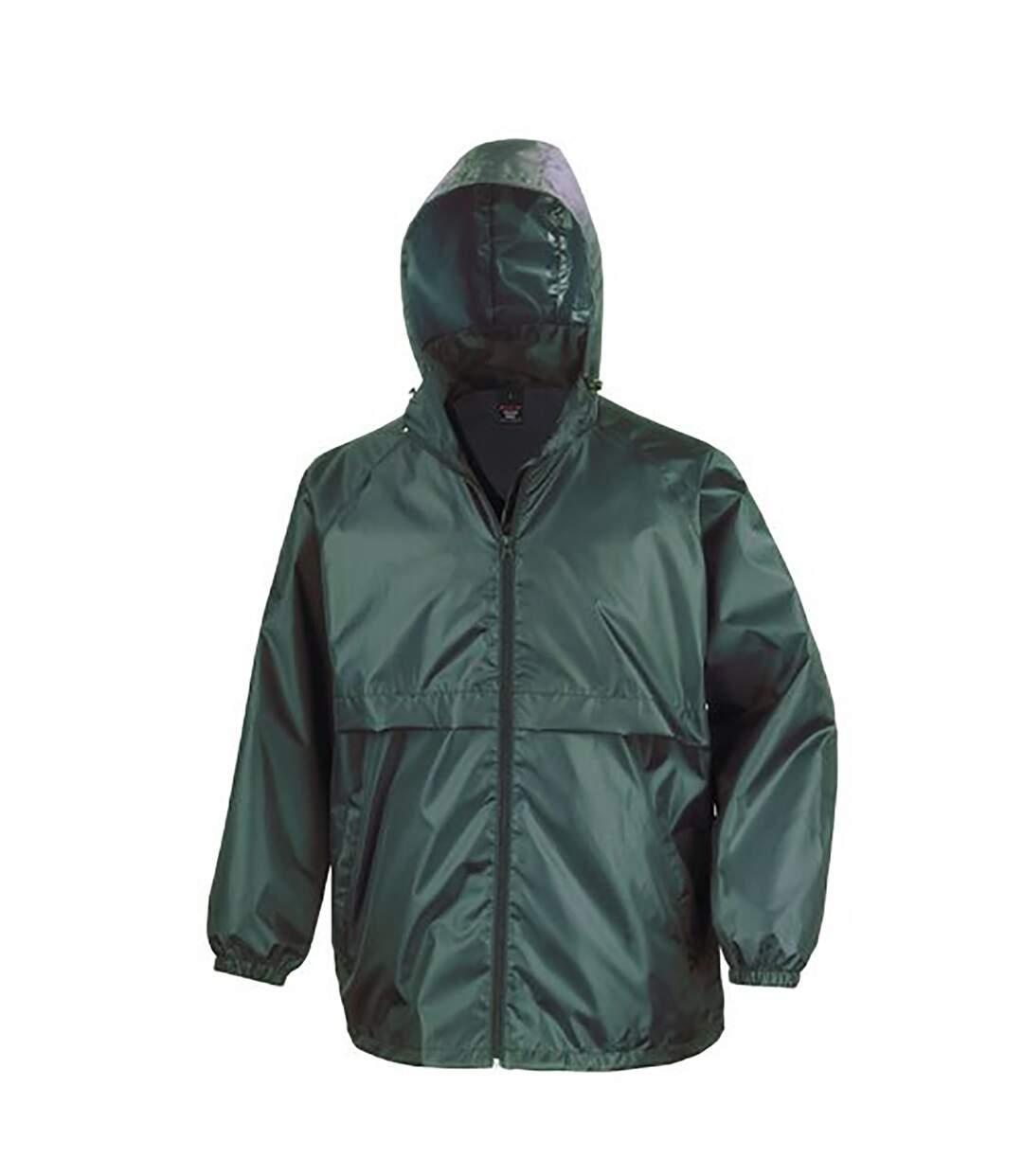 Result Mens Core Adult Windcheater Water Repellent Windproof Jacket (Emerald) - UTBC897