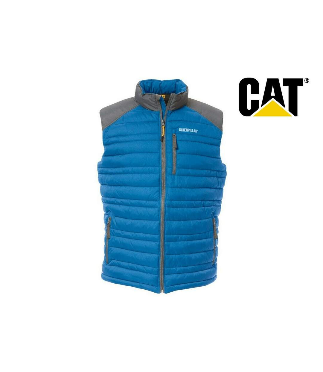 Caterpillar Mens C1320012 Defender Insulated Sleeveless Bodywarmer (Blue) - UTFS4024