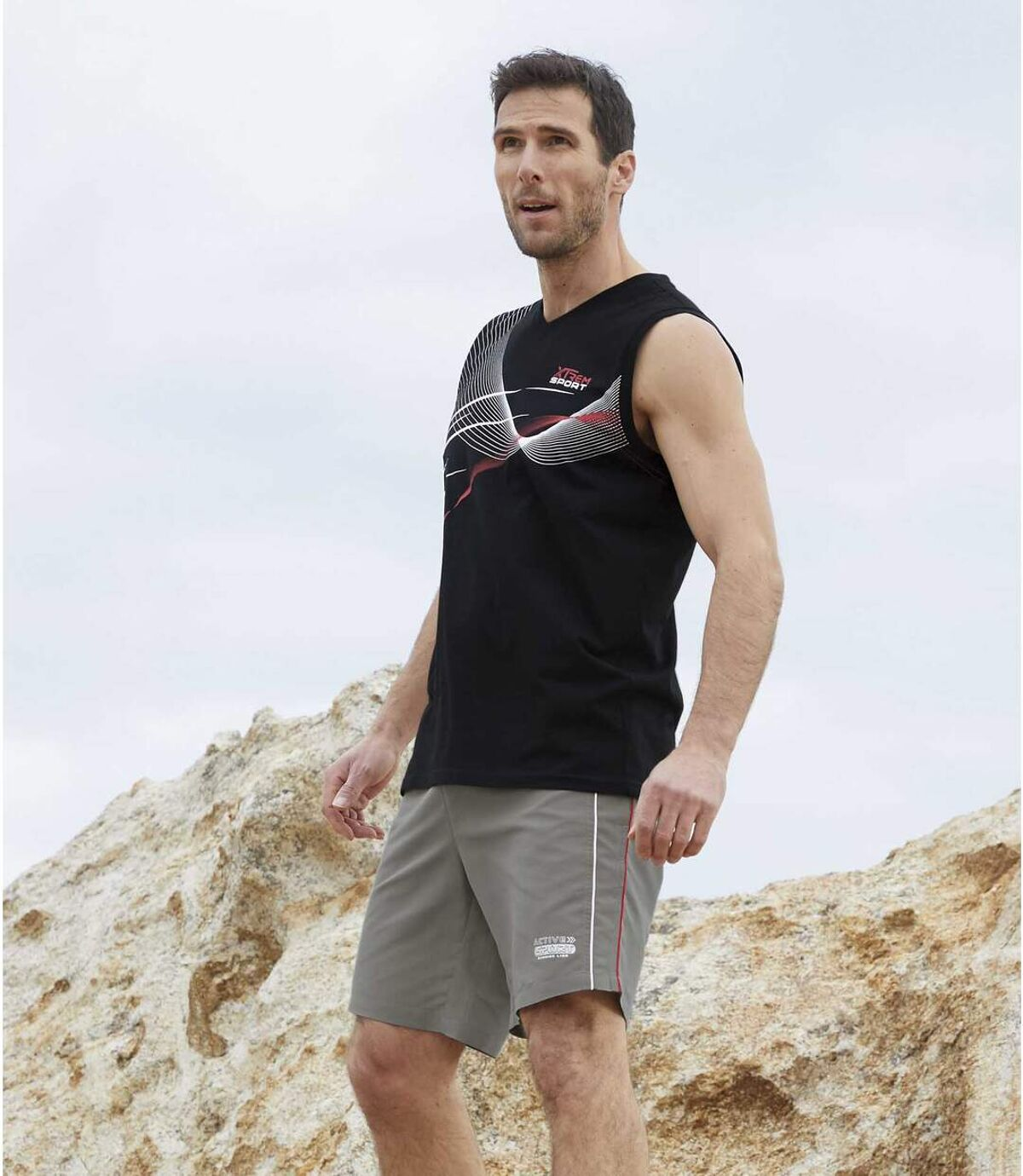 Zestaw 2 par szortów z mikrofibry Active Sport Atlas For Men