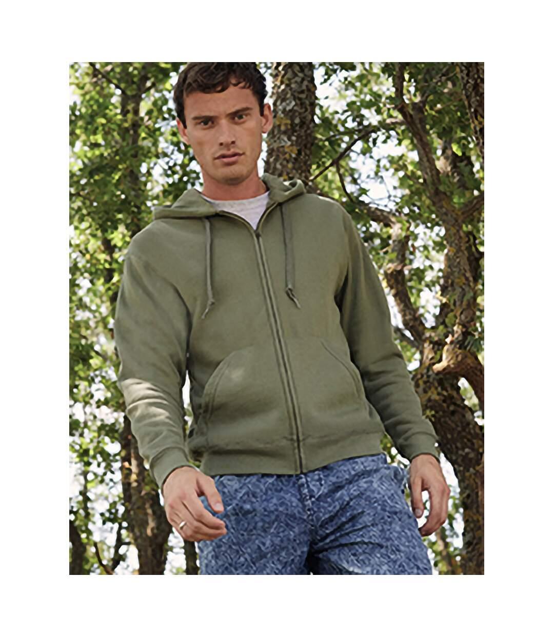 Fruit Of The Loom Mens Hooded Sweatshirt (Classic Olive) - UTBC1369