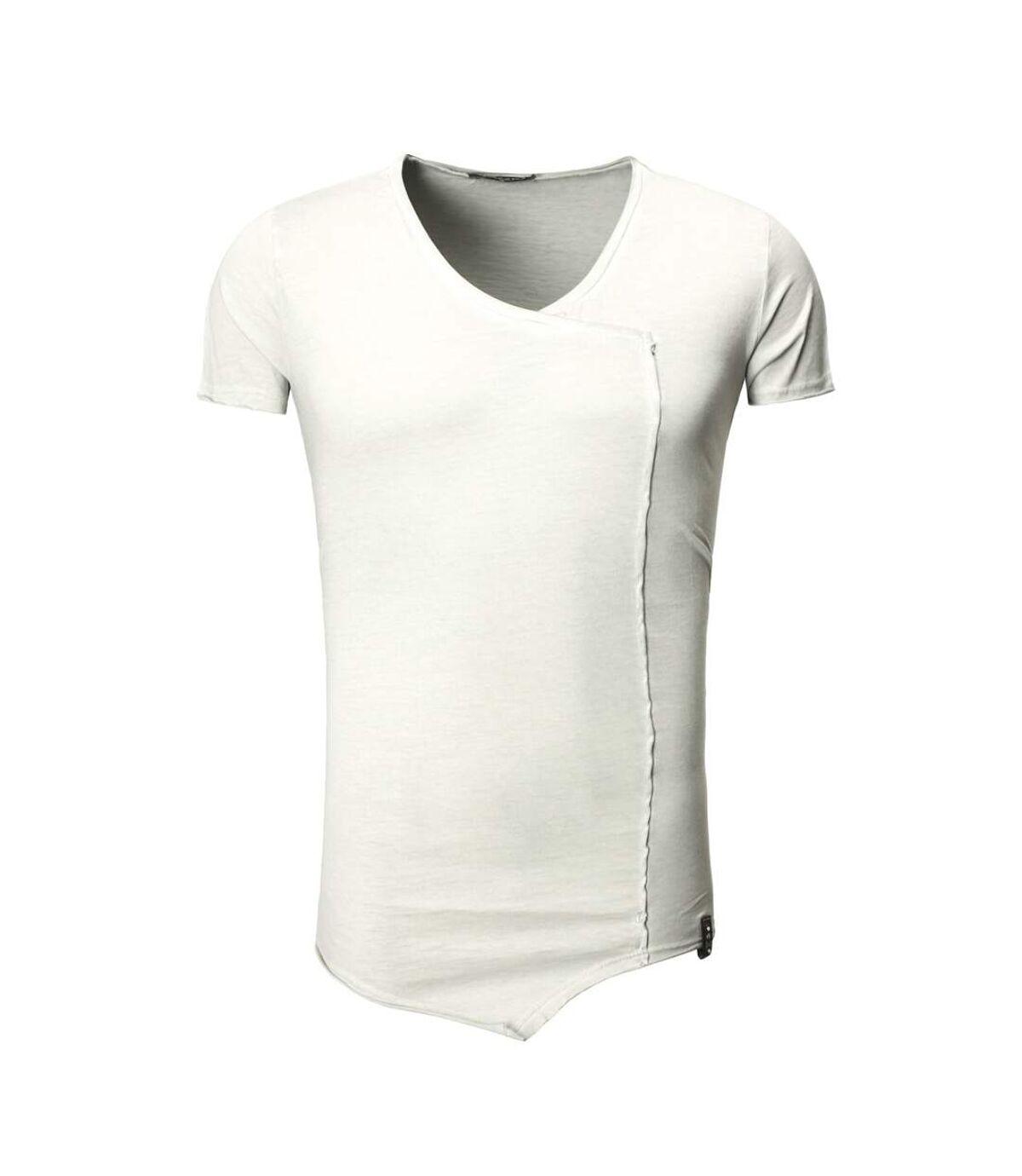 T-shirt asymétrique fashion T-shirt T22 gris clair