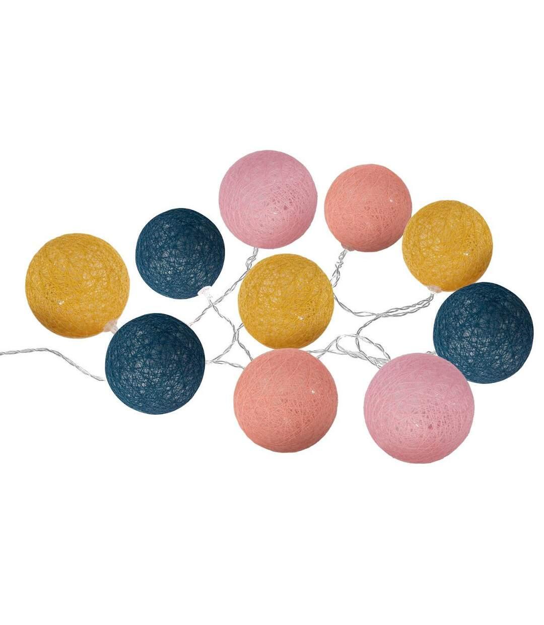 Atmosphera - Guirlande LED 10 boules Ola à piles D6