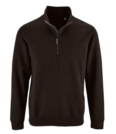 Sweat-shirt col camionneur - 02088 - noir