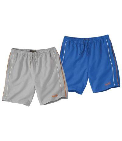 2er-Pack Shorts Running Line aus Microfaser