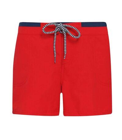 Asquith & Fox - Short de bain - Femme (Rouge / bleu marine) - UTRW6243