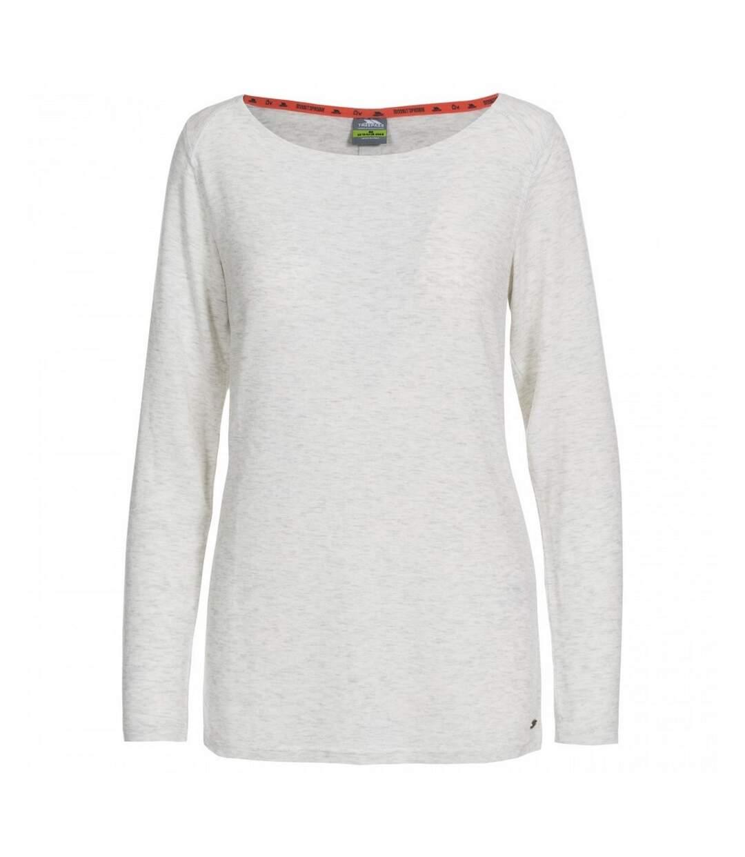 Trespass - Haut Manches Longues Daintree - Femme (Blanc chiné) - UTTP4712