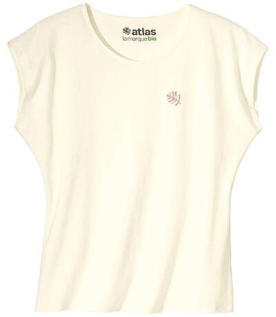 Le Tee-Shirt Femme Sans Manches Coton Bio Ecru