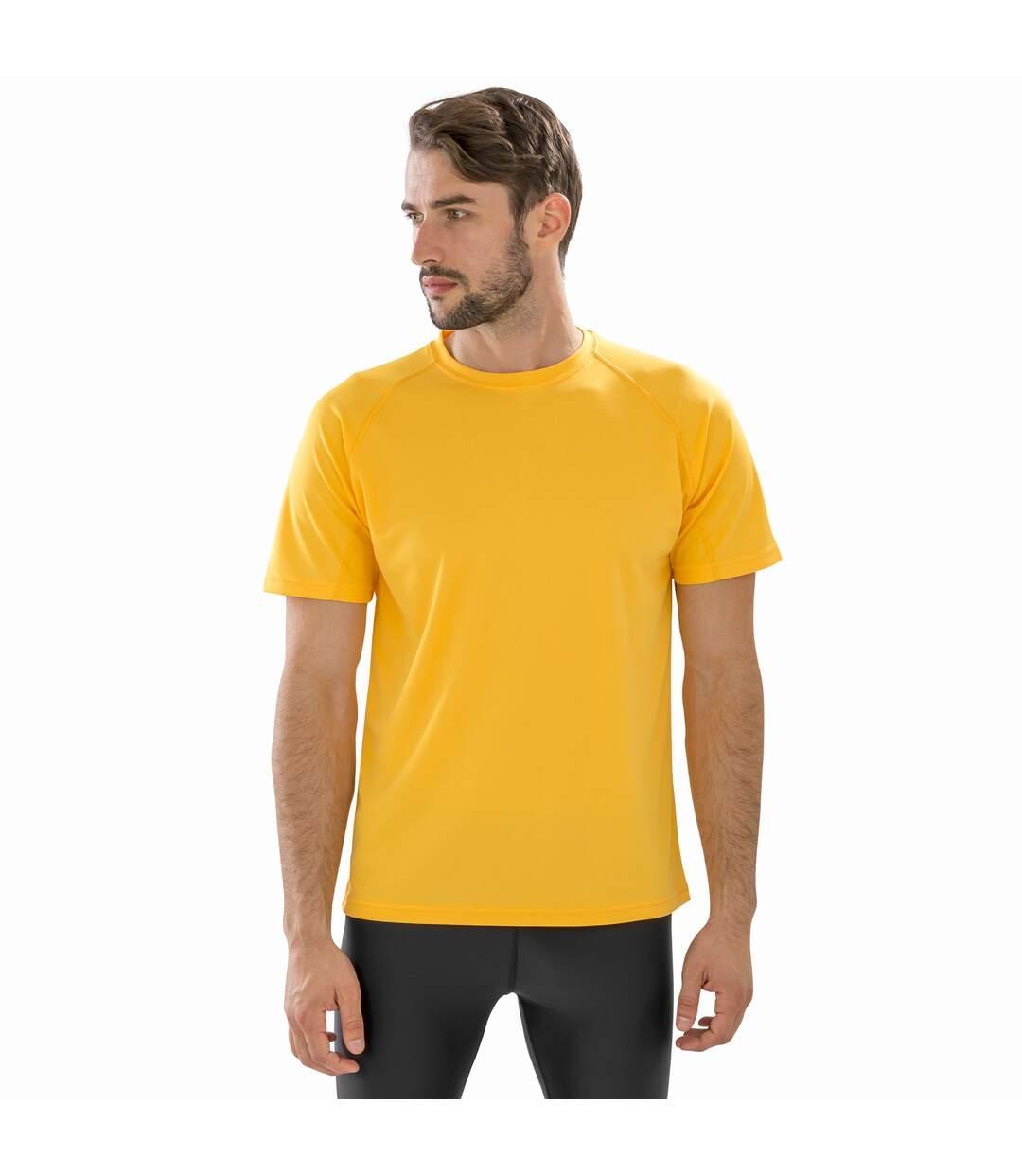 Spiro Mens Impact Aircool T-Shirt (Gold) - UTBC4856