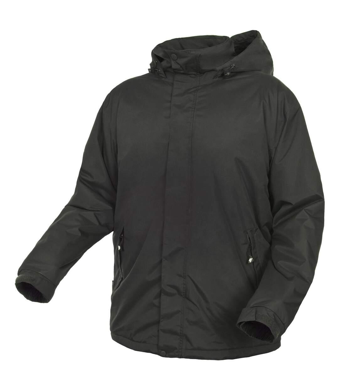 Trespass Mens Bayfield Hooded Touch Fastening Weatherproof Jacket (Khaki) - UTTP4541