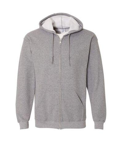 Gildan Heavy Blend Unisex Adult Full Zip Hooded Sweatshirt Top (Graphite Heather) - UTBC471