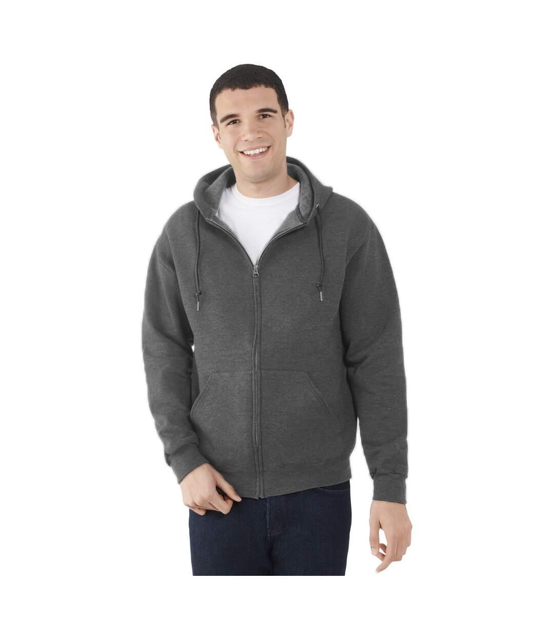 Fruit Of The Loom Mens Lightweight Full Zip Jacket / Hoodie (Deep Navy) - UTBC2655