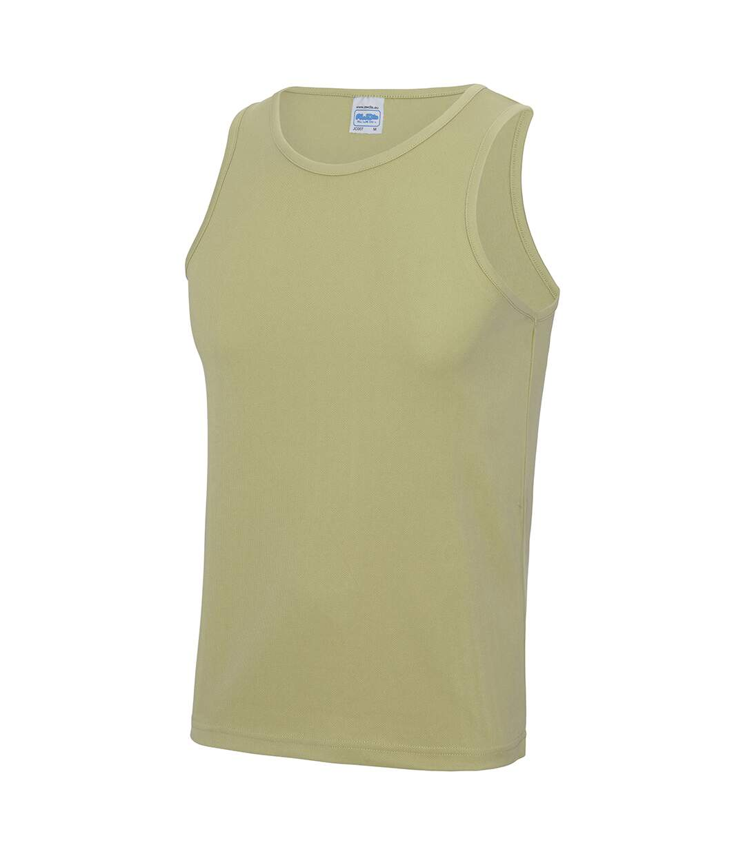 Just Cool Mens Sports Gym Plain Tank / Vest Top (Heather Grey) - UTRW687