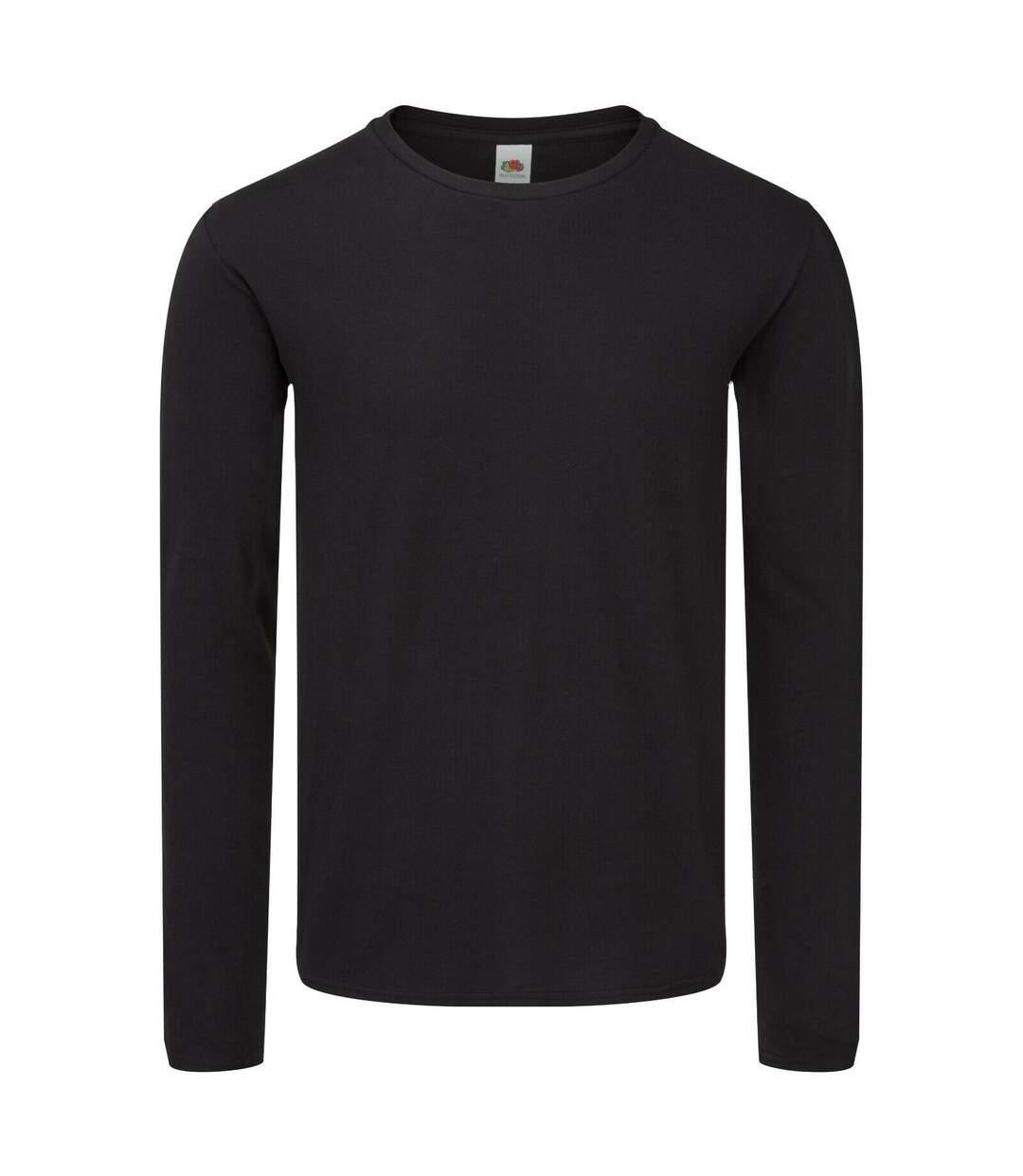 Fruit of the Loom Mens Iconic 150 Long-Sleeved T-Shirt (Dark Navy) - UTRW7739