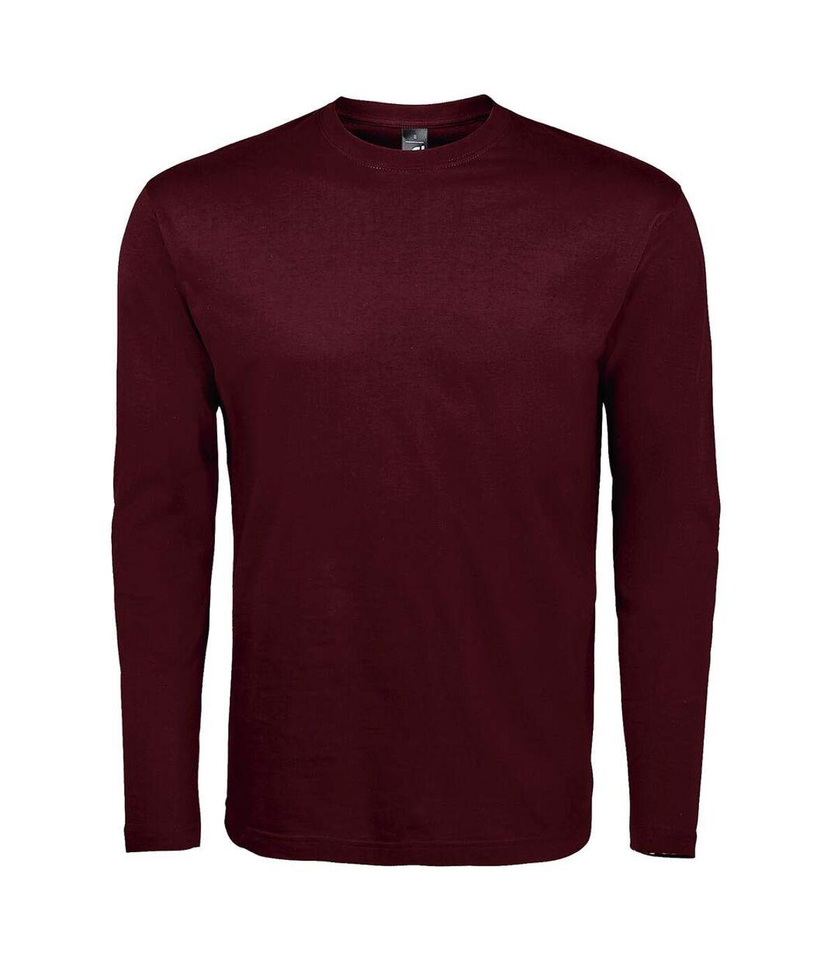 SOLS Mens Monarch Long Sleeve T-Shirt (White) - UTPC313