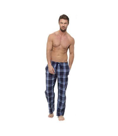 Foxbury Bas de pyjama à carreaux pour hommes (Bleu marine) - UTUT899