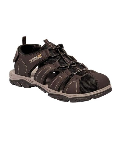 Regatta Mens Westshore II Closed Toe Sandals (Peat/Treetop) - UTRG4036