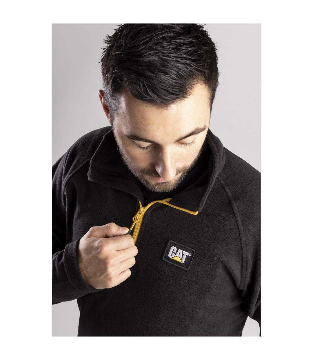 Caterpillar Mens Concord Fleece Pullover (Black) - UTFS5049