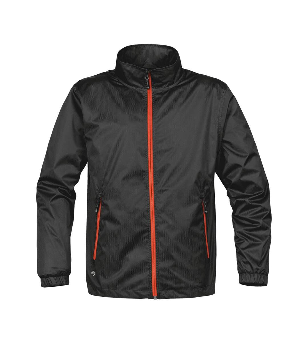 Stormtech Mens Axis Lightweight Shell Jacket (Waterproof And Breathable) (Black/Orange) - UTBC3070
