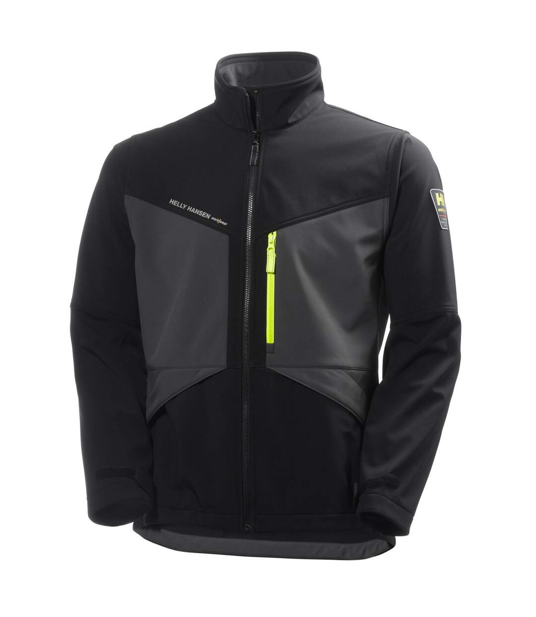Helly Hansen Mens Aker Softshell Jacket (Jet Black/Dark Grey) - UTBC3947