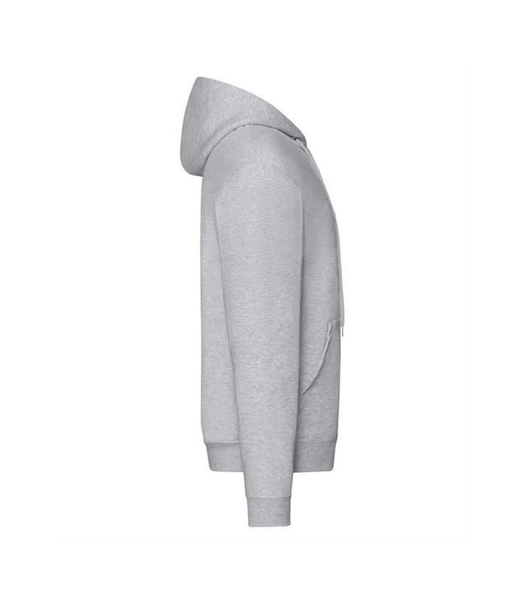 Fruit Of The Loom Mens Zip Through Hooded Sweatshirt / Hoodie (Heather Grey) - UTBC360