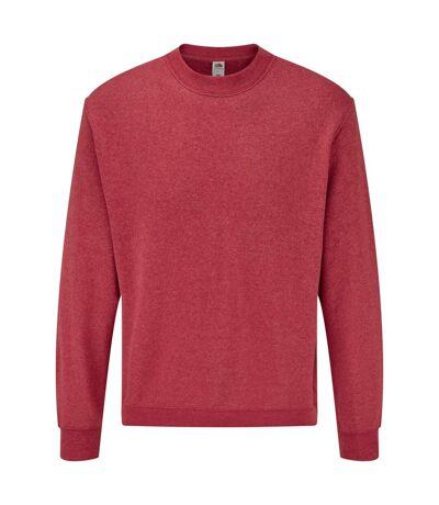 Fruit Of The Loom Mens Set-In Belcoro® Yarn Sweatshirt (Heather Red) - UTBC365