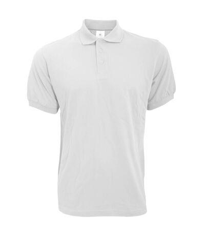 B&C Safran Mens Polo Shirt / Mens Short Sleeve Polo Shirts (White) - UTBC103