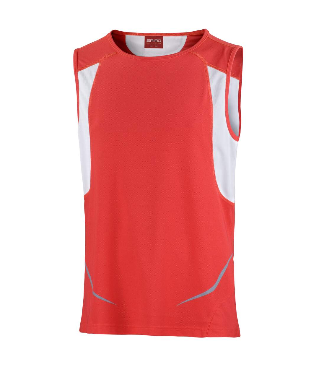 Spiro Mens Sports Athletic Vest Top (Black/Red) - UTRW1480