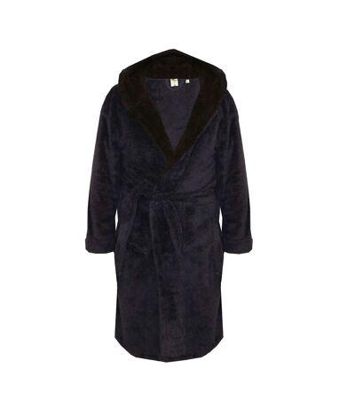 Duke Mens Newquay Hooded Dressing Gown (Navy) - UTDC305