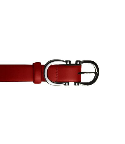 Eastern Counties Leather - Ceinture En Cuir Avec Boucle - Femme (Rouge) - UTEL243