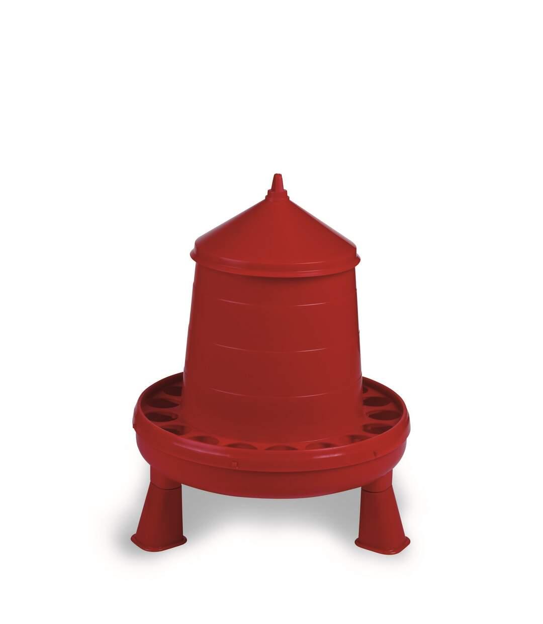 Gaun - Mangeoire Avec Pieds - Poules (Rouge) (4 kg) - UTTL1484