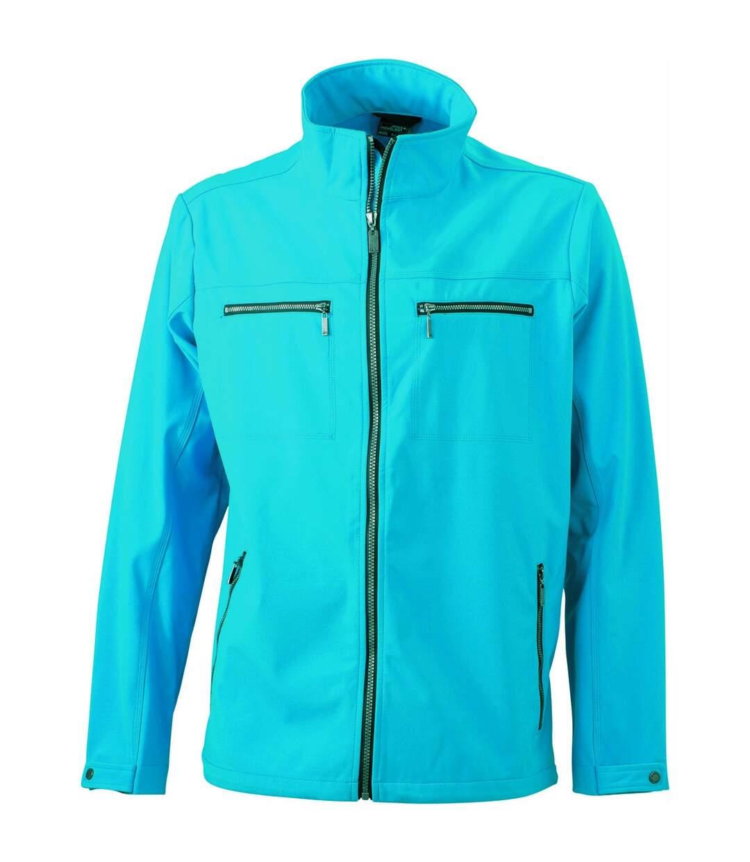 Veste moulante softshell HOMME JN1058 - bleu turquoise