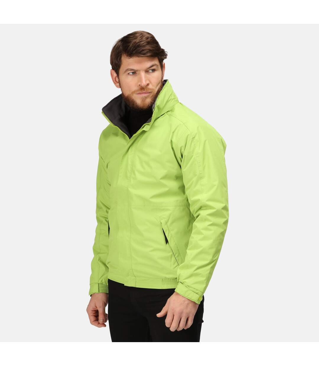 Regatta Dover Waterproof Windproof Jacket (Thermo-Guard Insulation) (Key Lime/Seal Grey) - UTRG1425
